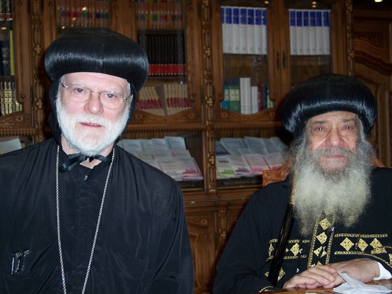 Abba Seraphim with HH Pope Shenouda III in Cairo, 2006