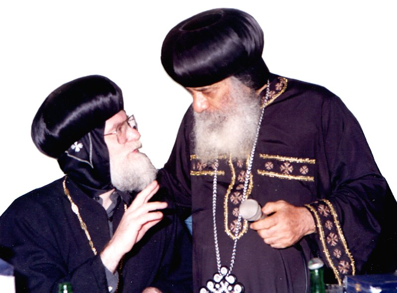 With HH Pope Shenouda, Cairo, 1994