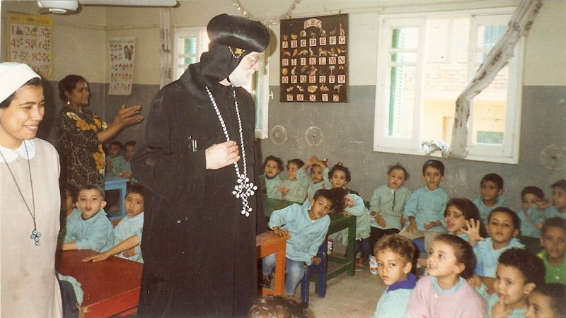 Visiting Infant School in Egypt