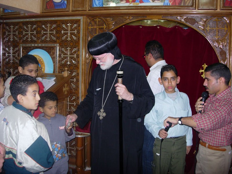 Visiting the faithful at Abaghia, 2009
