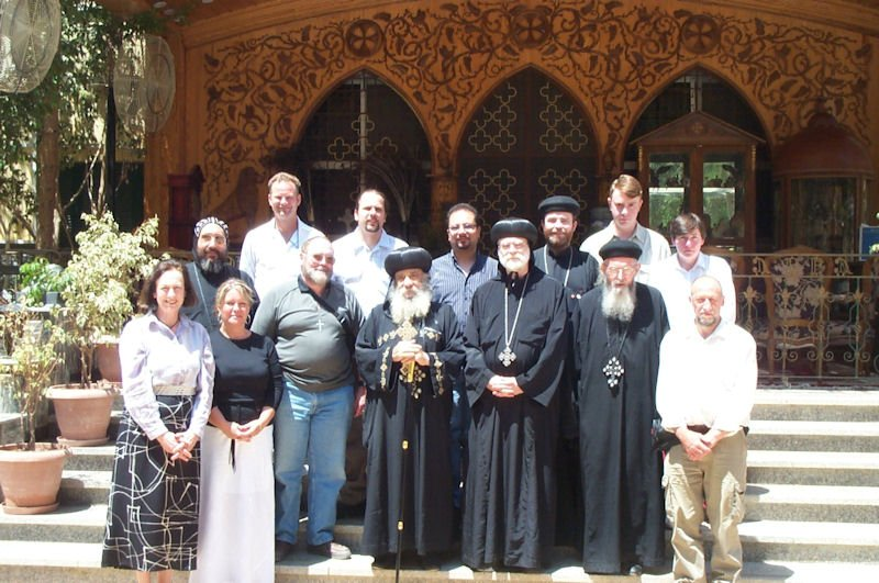 Visiting HH Pope Shenouda, 2004