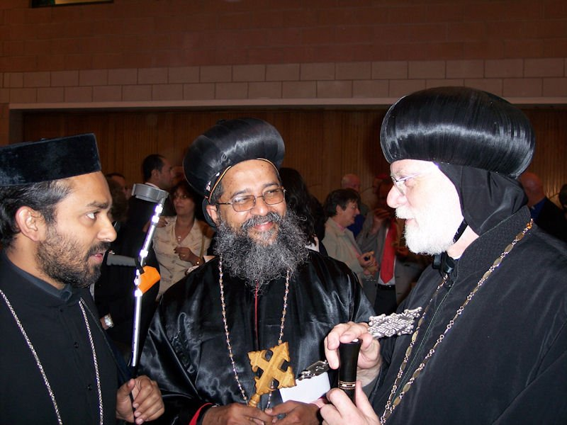 With Indian Orthodox clergy at Stevenage, 2006