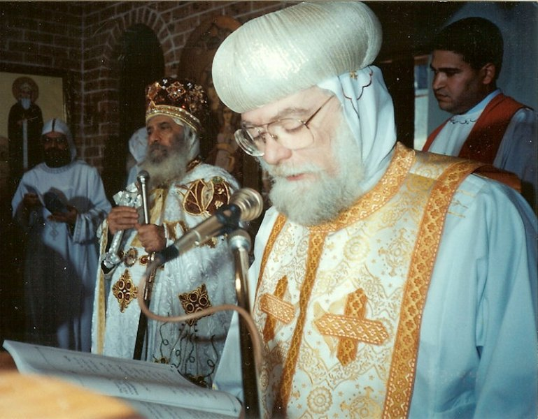 Abba Seraphim with Pope Shenouda
