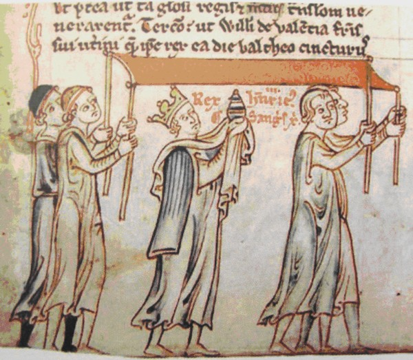 Henry III processes with the Holy Blood