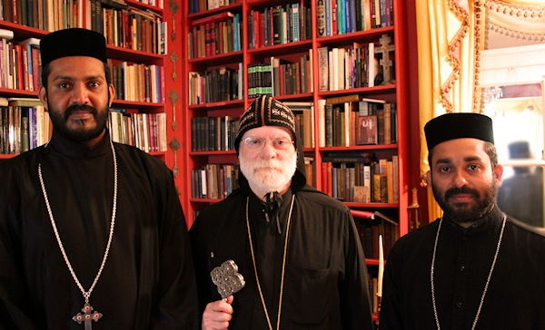 Fr Thomas P John, Metropolitan Abba Seraphim and Fr Abraham Thomas