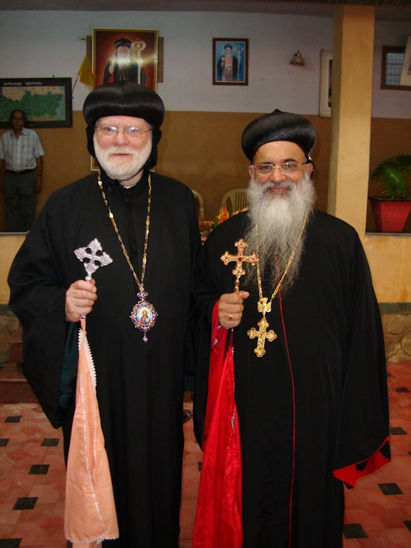 Abba Seraphim with the present Catholicos of the Indian Orthodox Church