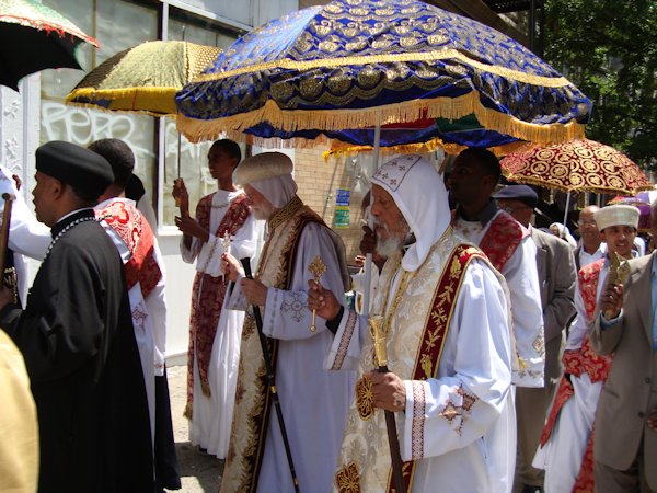 Eritrean clergy process in New York, USA