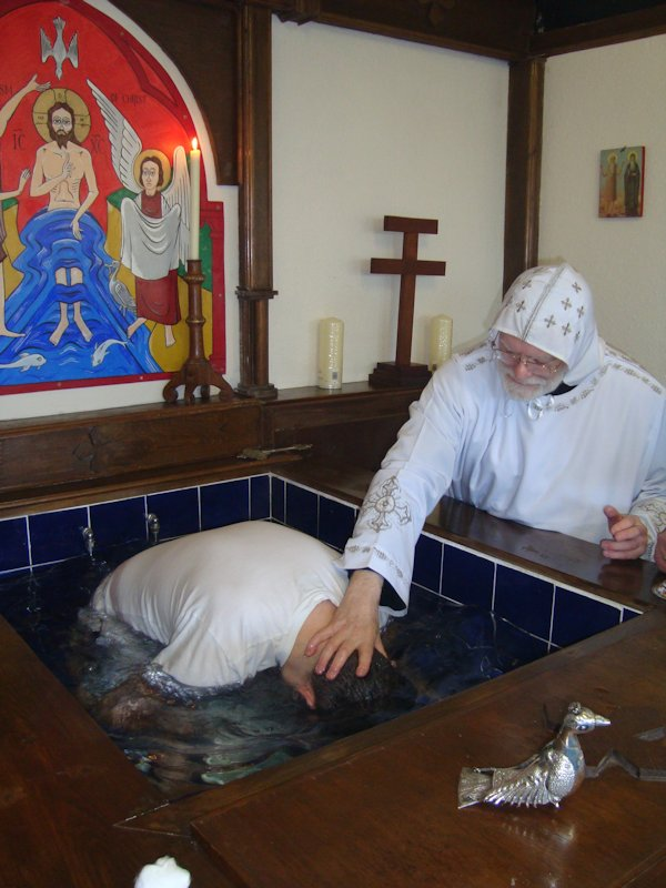 Baptising a convert to Orthodoxy