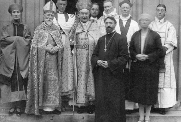 British Orthodox Bishop at Armenian Church in London 1930