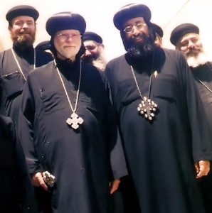 Metropolitan Tawadros with Father Simon and Abba Seraphim
